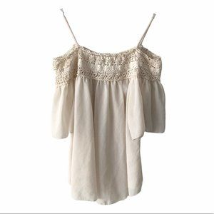 Love Culture Beige Off the Shoulder Top small